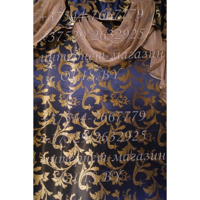 Диана. Темно-синяя. Готовый комплект штор. Шторы для зала, гостиной, спальни