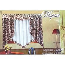 Мария. Готовый комплект штор для спальни и кухни.