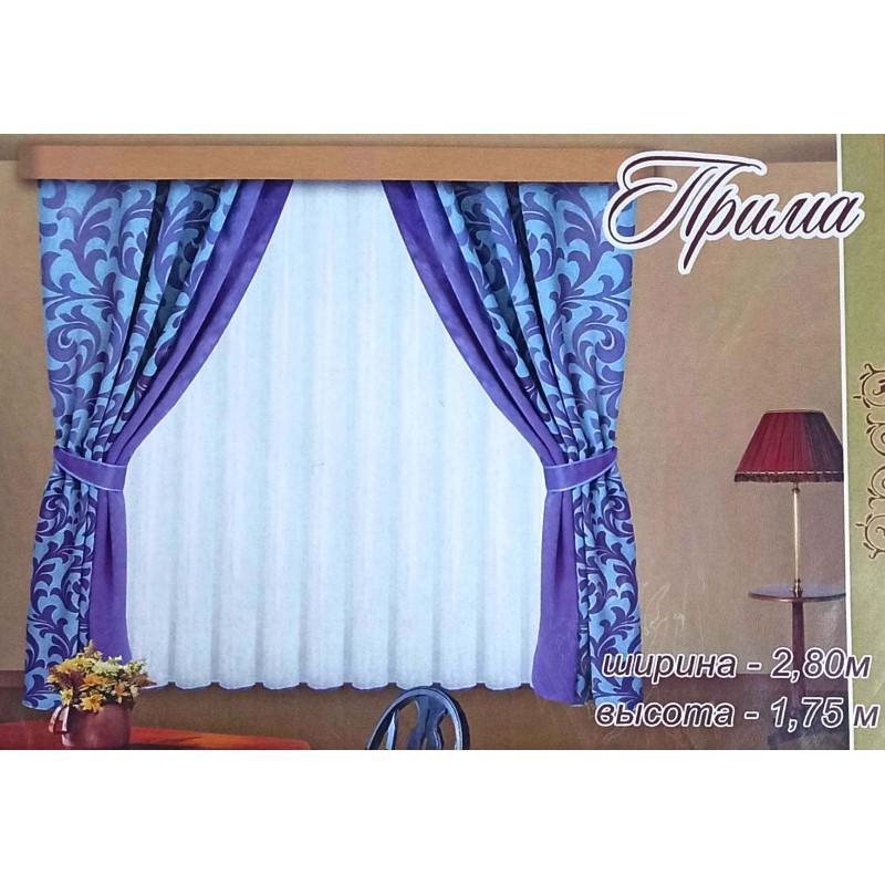 Прима. Готовый комплект штор для спальни и кухни.
