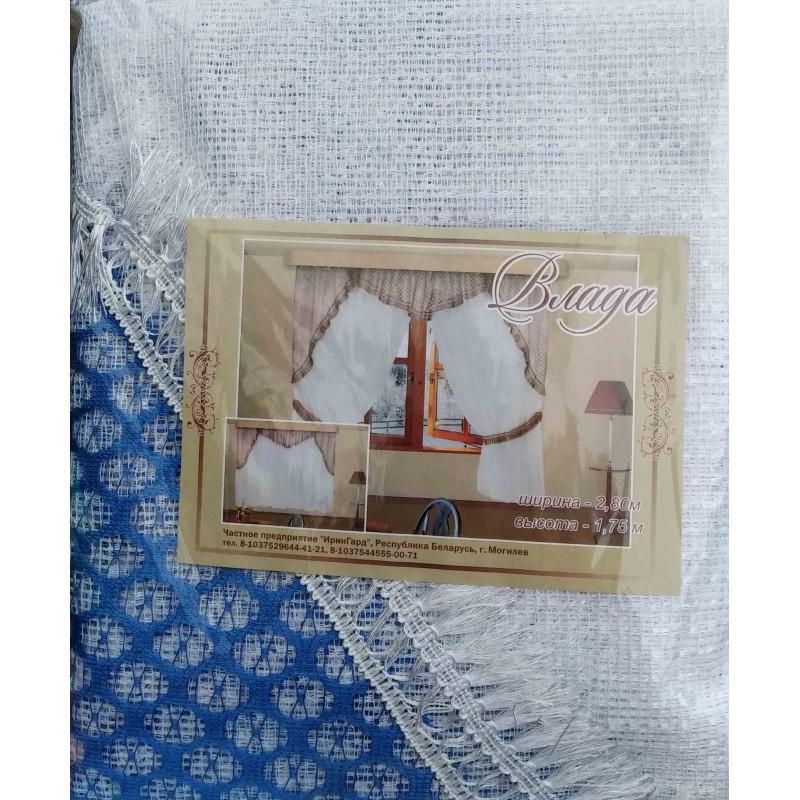 Влада. Готовый комплект штор для спальни и кухни.