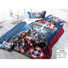 """Детское постельное белье """"Капитан Америка, железный человек"""""""