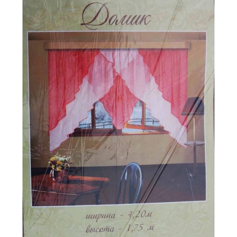 Домик и  Домик-2. Готовый комплект штор для спальни и кухни.