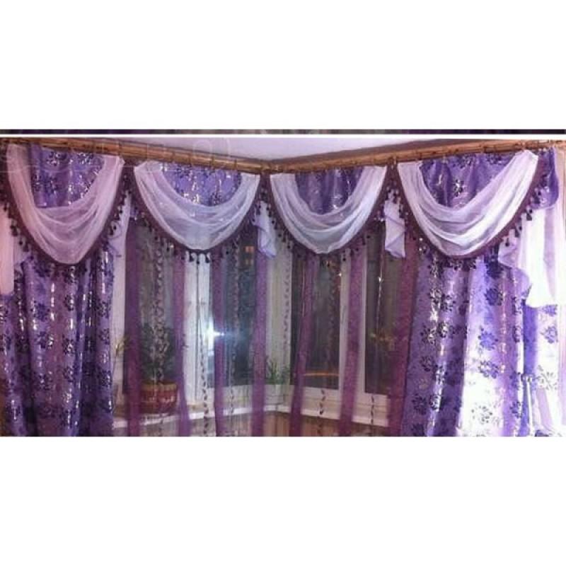 Шторы Королевские. Готовый комплект штор. Шторы для зала, гостиной, спальни
