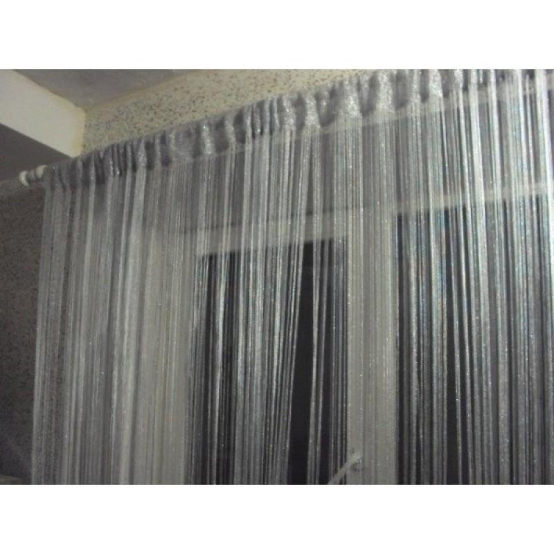 Кисея «Дождь» . Шторы нити с люрексом. Шторы для зала, гостиной, спальни