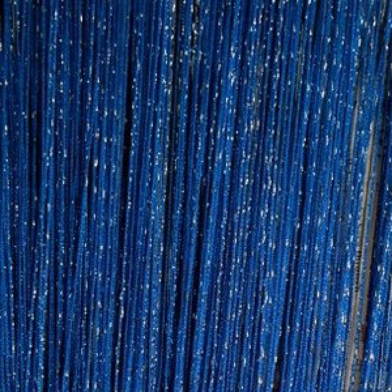 "Шторы-нити (кисея) ""Дождь"". Синий"