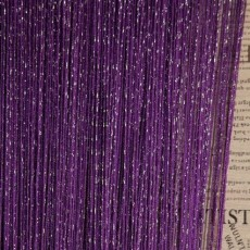 """Шторы-нити (кисея) """"Дождь"""". Фиолетовый"""