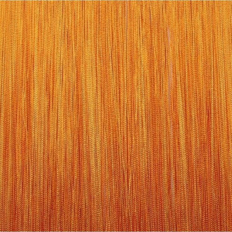Шторы-нити (кисея). Оранжевая