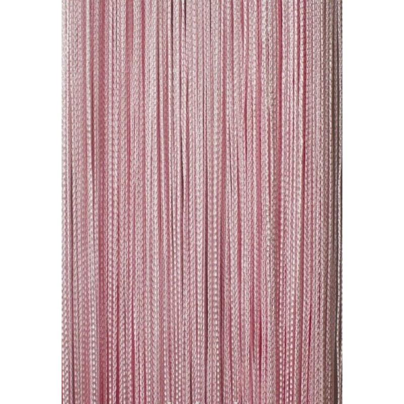 Шторы-нити (кисея). Розовая