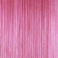 Шторы-нити (кисея). Темно-розовая