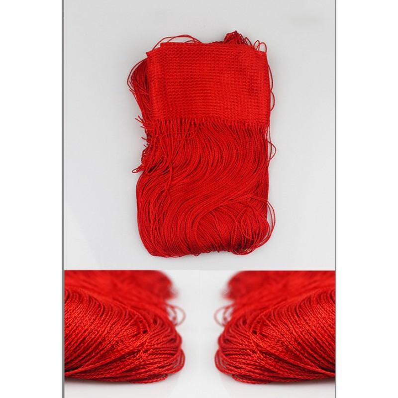 Шторы-нити (кисея). Красная