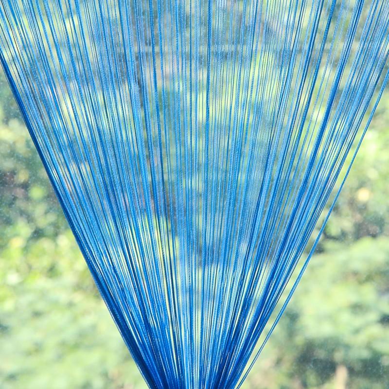 Шторы-нити (кисея). Голубая