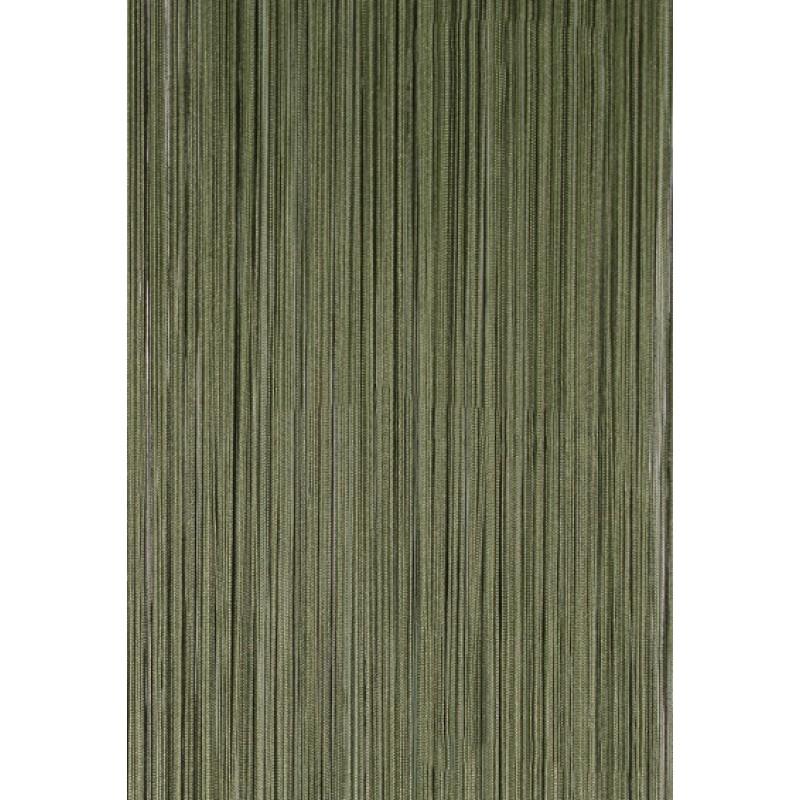 Шторы-нити (кисея). Зеленая