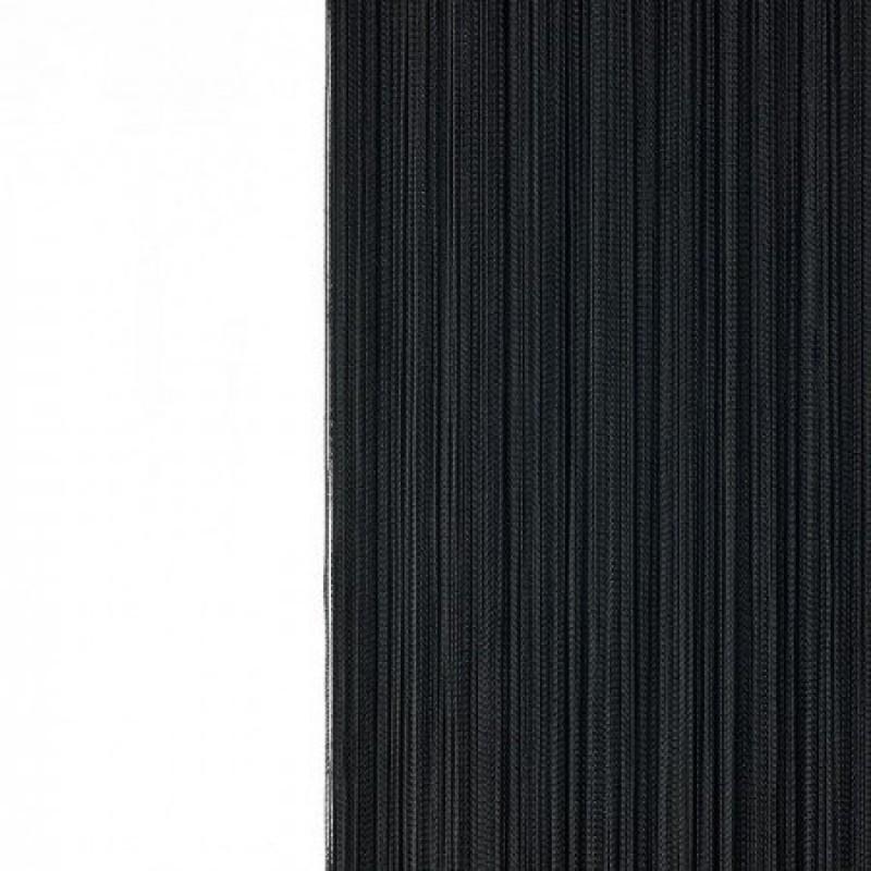 Шторы-нити (кисея). Черная