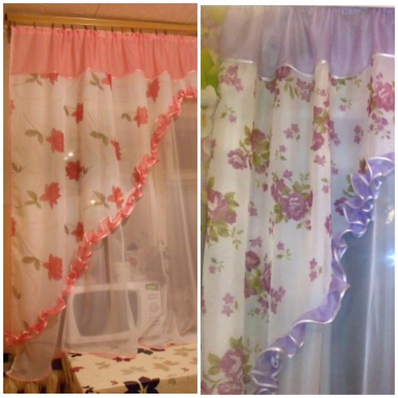 Валерия (Виктория). Готовый комплект штор для спальни и кухни.